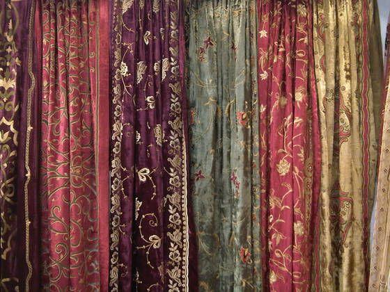 antique silk velvet curtains