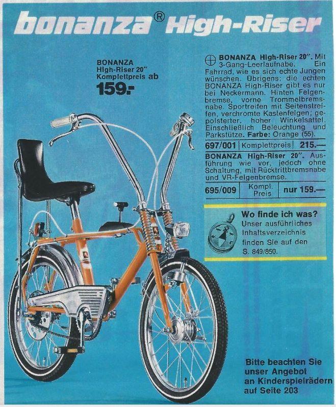 Neckermann Bonanza High-Riser ------ B O N A N Z A R A D | Fahrrad ...
