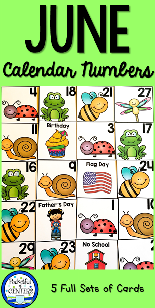 June Calendar Numbers For Preschool : June calendar numbers preschool
