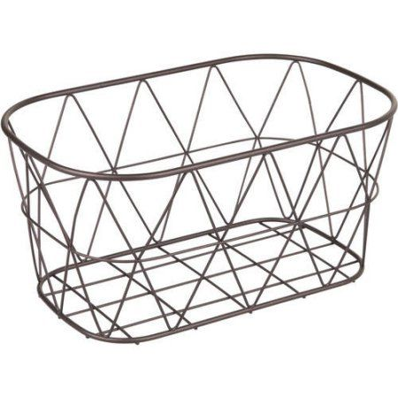 Better Homes And Gardens Bathroom Wire Storage Basket Small Bronze