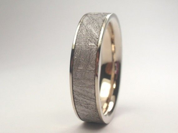 bands rings patsveg splendid mens com meteorite ring wedding meteor