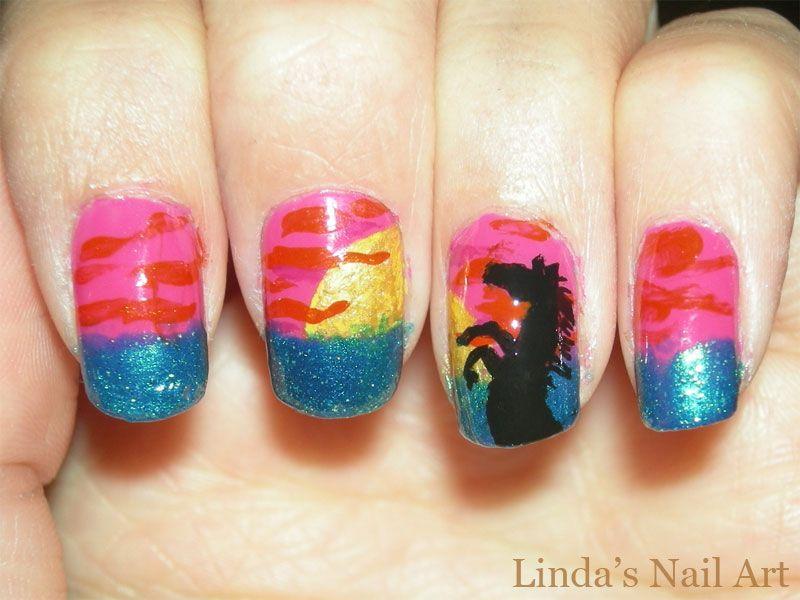 Fantastic Horse Nail Art Image - Nail Art Ideas - morihati.com