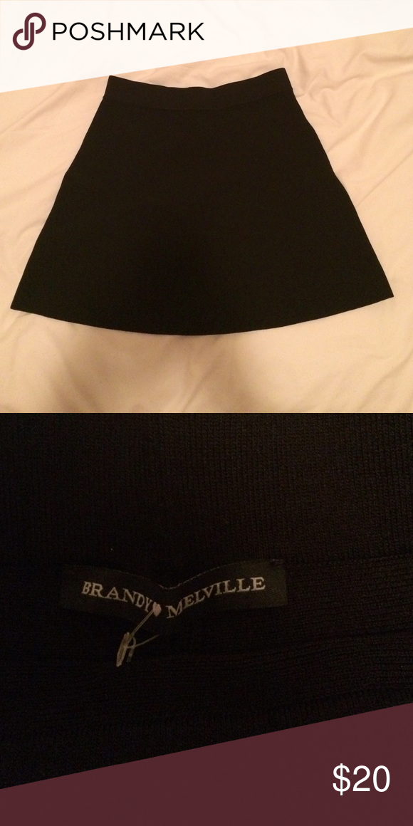 Brandy Melville Skirt Brand new never worn or even tried on. Bought it for a friend but when I got it in person I realized it wouldn't even fit her lmao, so here y'all go! Fabric is stretchy and has an elastic waistband. Would be super cute if paired with a blouse and some booties or sneakers. As seen on the beautiful-as-ever Alexis Ren. I am open to offers and trades. Brandy Melville Skirts A-Line or Full