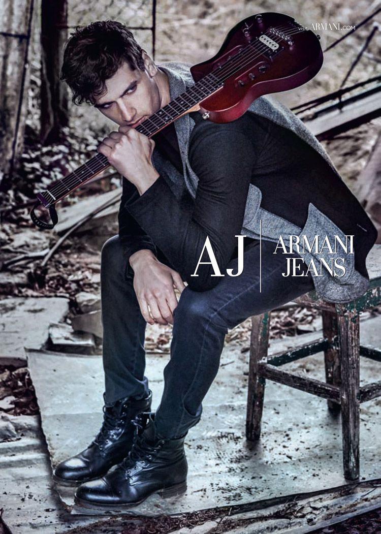 Fabio Mancini for Armani Jeans Fall Winter 2014.15