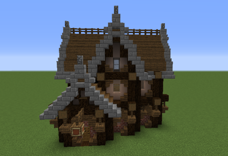 Gothic Tavern Grabcraft Your Number One Source For Minecraft Buildings Blueprints Tips Ideas Fl Minecraft Buildings Minecraft Houses Minecraft Medieval