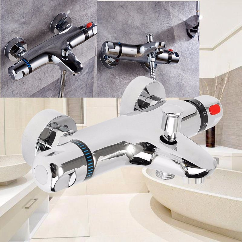 check discount wall mounted bath shower ceramic thermostatic faucets ...
