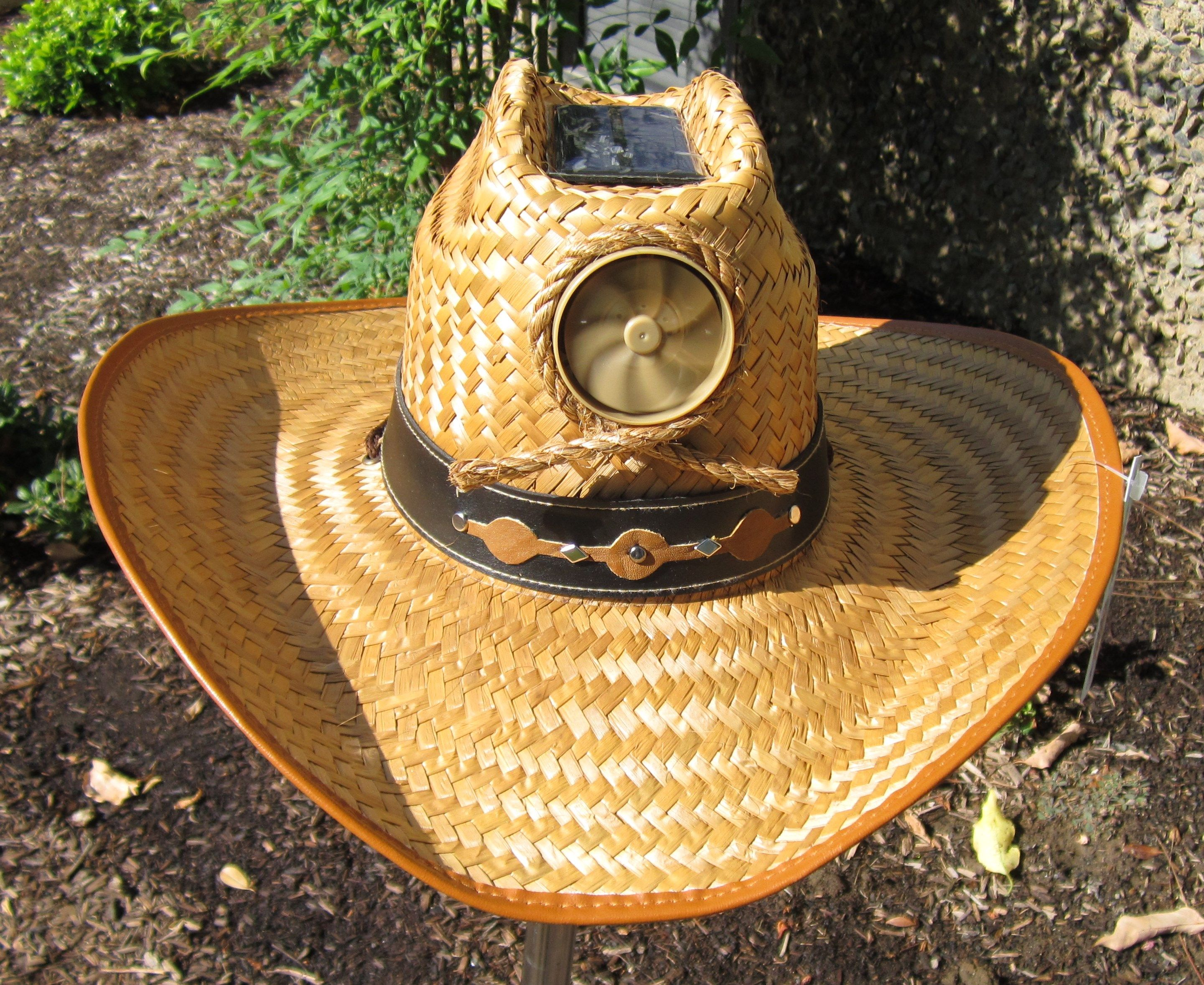 a57e5b124 Kool Breeze Solar Hat to keep you cool on the ranch! Western style ...