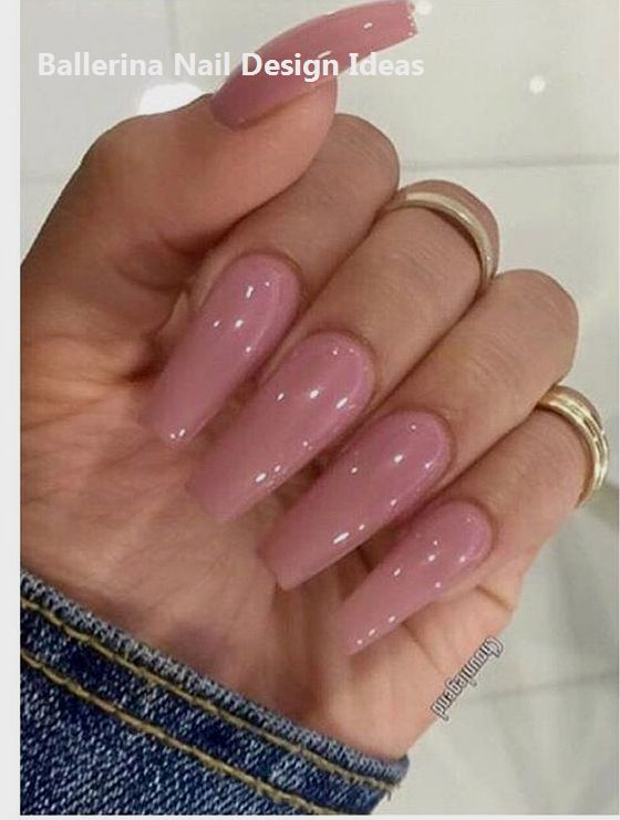 Ballerina Nails On Trend 1 With Images Spring Acrylic Nails Fake Nails Shape Ballerina Nails
