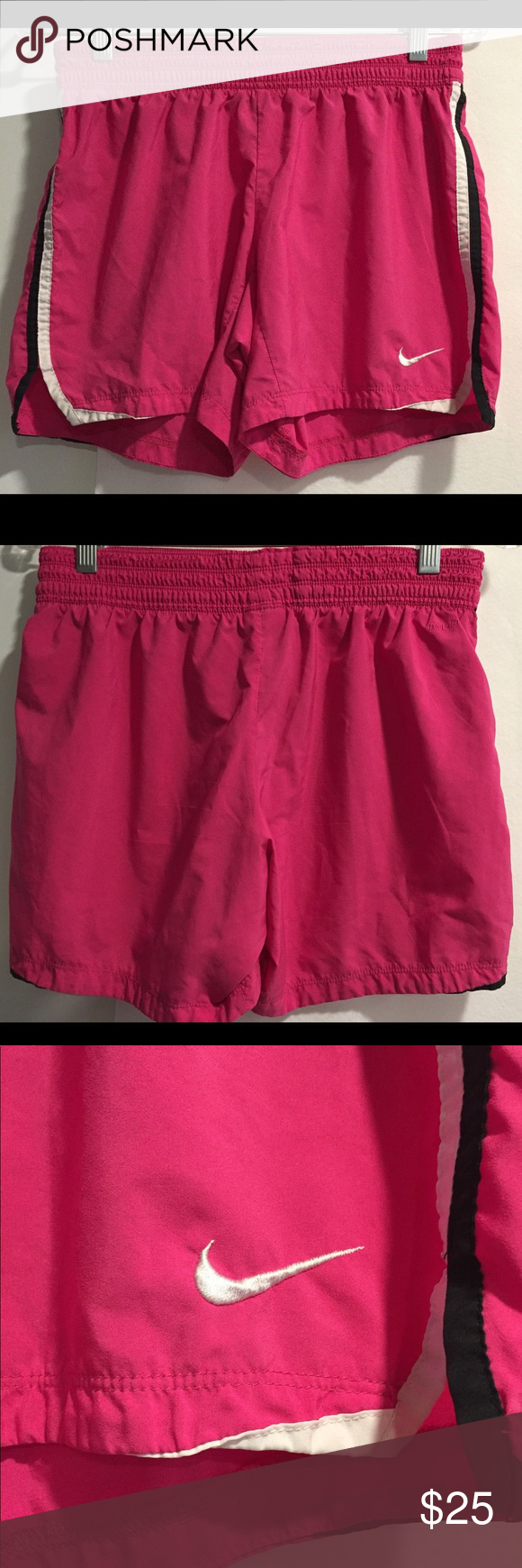 d81da0ba3b348 Nike Dri Fit Activewear Pink Shorts Size S Preowned Athletic Running Shorts