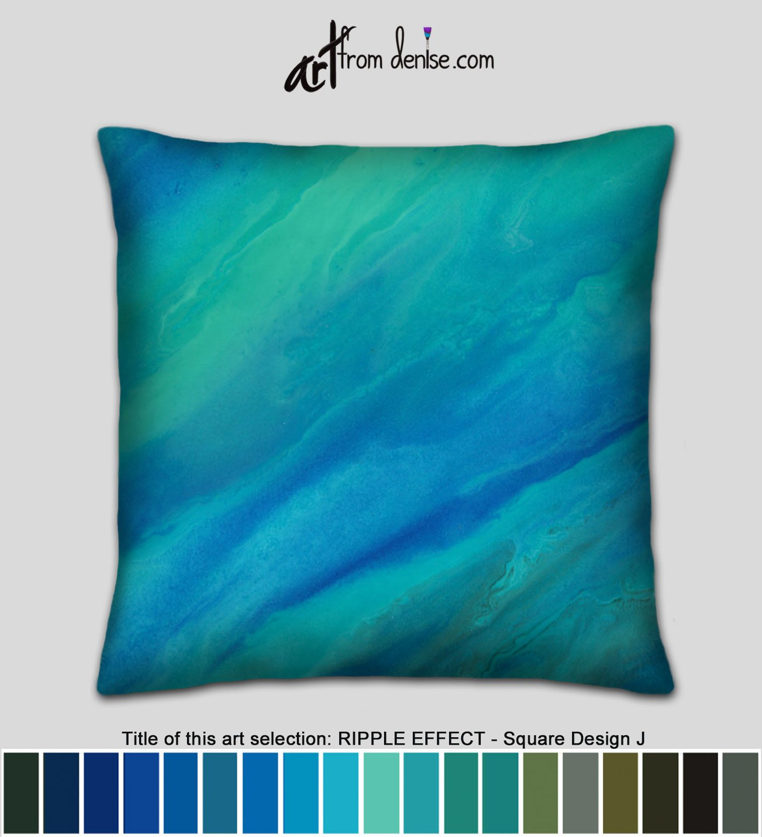 Teal Green Blue Aqua Sofa Pillows Or