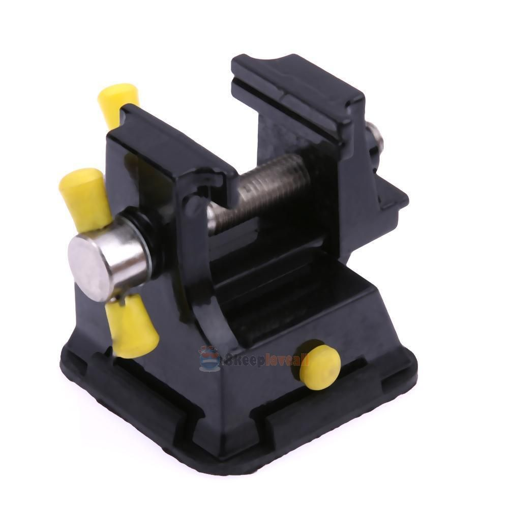 Mini table top bench vice vise press clamp rubber suction base ^P