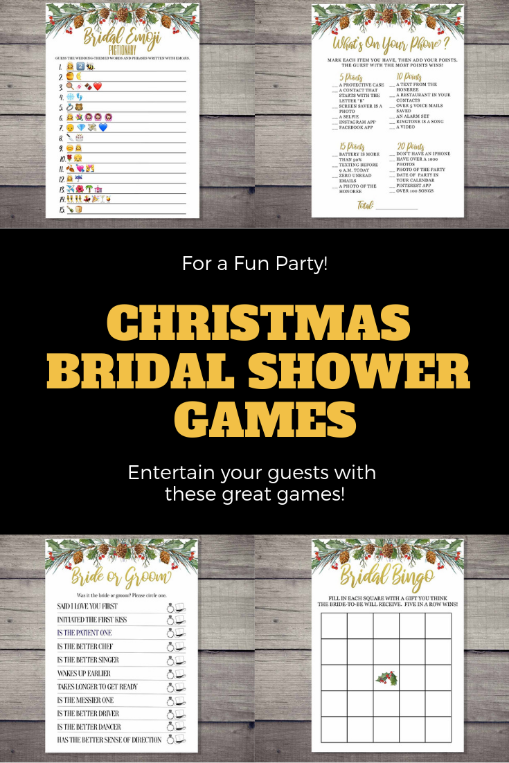 entertain your guests at your christmas bridal shower with these elegant games these games include