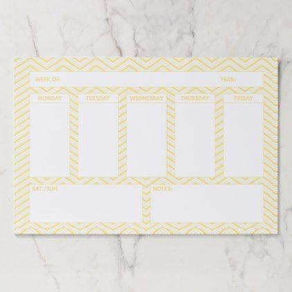 Calendar Sample Design Your Weekly Calendar Orange Chevron Paper Pad  Pattern Sample .