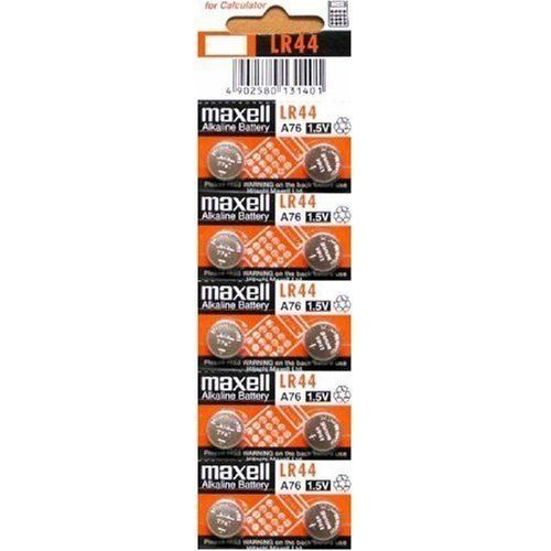 MAXELL AG13 LR44 357 button cell battery  Maxell Alkaline Button Cell Battery is Designed for today's watches, electronics and digital equipment provides High performance and reliability. Replaces LR44, AG13, A76, L1154, G13, V13GA. 1.5V, 138mAh 1.5V, 138mAh D:11.60mm H:5.40mm  http://www.bestratewatches.com/maxell-ag13-lr44-357-button-cell-battery/