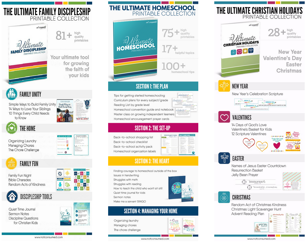 Free Christian Home Schooling Printables