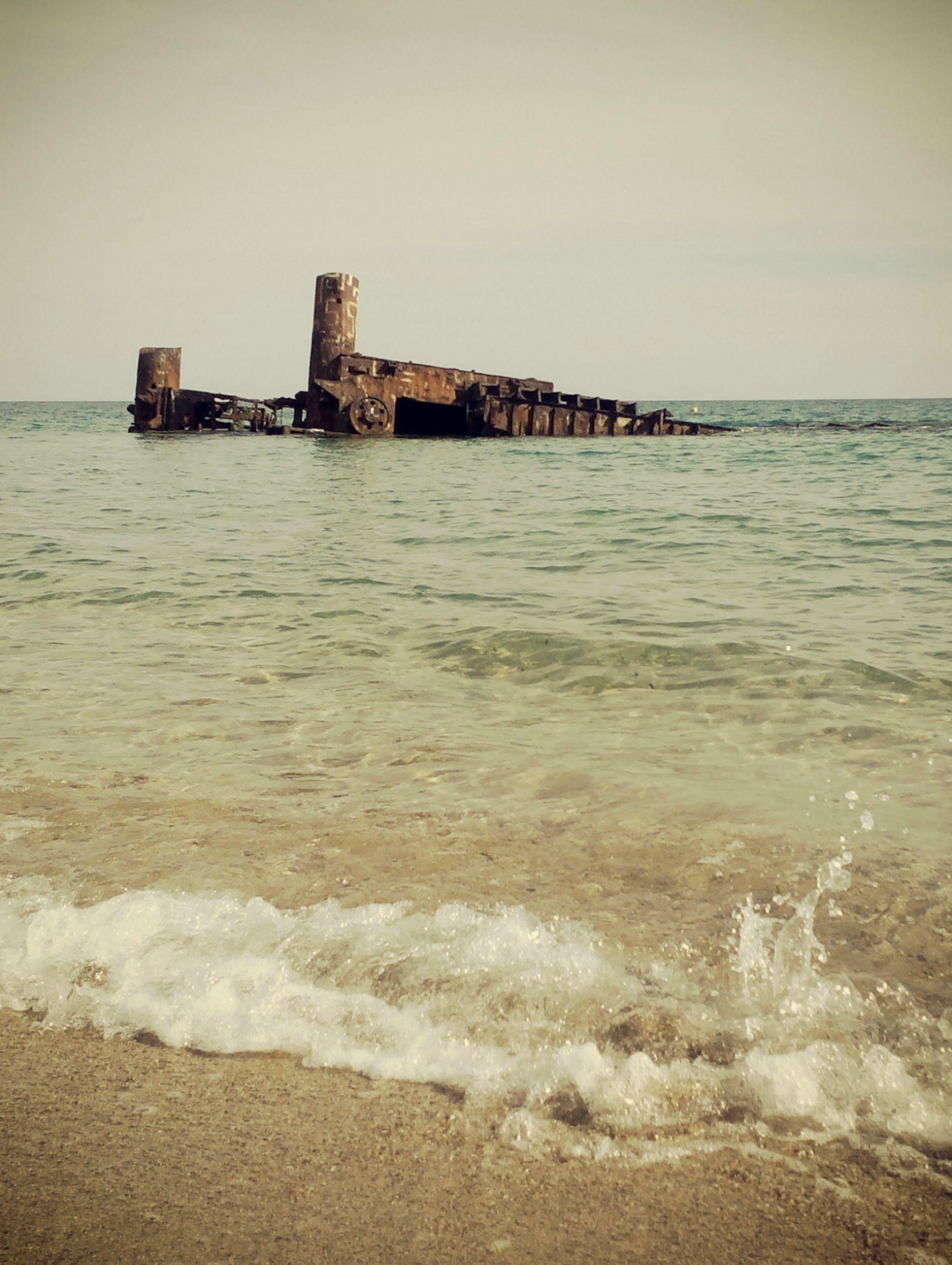 shipwreck - Epanomi, Thessaloniki, Greece
