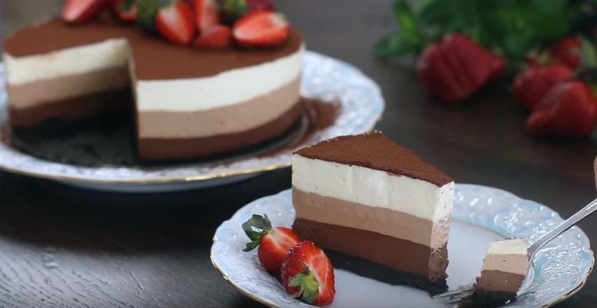 Taivaallinen+resepti+leviää+netissä:+kolmen+suklaan+kakku,+joka+ei+vaadi+paistamista