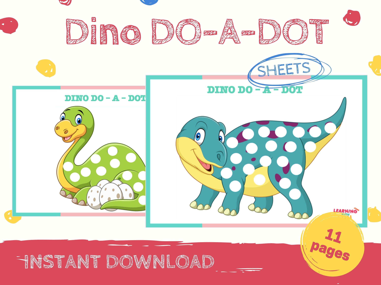 Dinosaur Do A Dot Printables Do A Dots Worksheets Dot