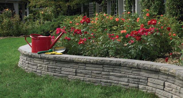 Flagstone Anchor Block Company Landscaping Retaining Walls Concrete Landscape Edging Retaining Wall
