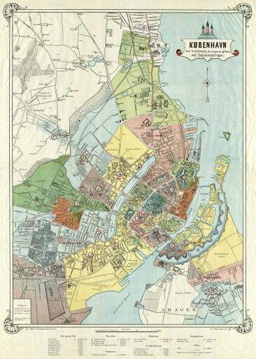 Kort Over Sogneinddelingen I Kobenhavn 1899 Kort