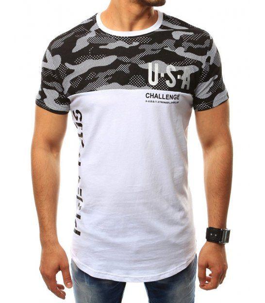 a093e905f940 Pánske tričko s potlačou U.S.A. bielo-čierne