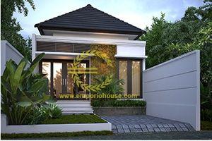 desain rumah 1 lantai 3 kamar lebar 6 m, luas tanah 100