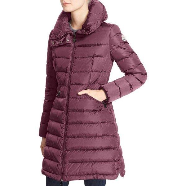 Women's Moncler 'Flammette' Water Resistant Long Hooded Down Coat (81.145 RUB) ❤