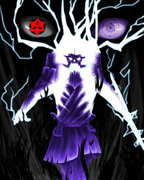 Uchiha Sasuke Susanoo Rinnegan Amaterasu Ems Fanart Gambar Sasuke Animasi
