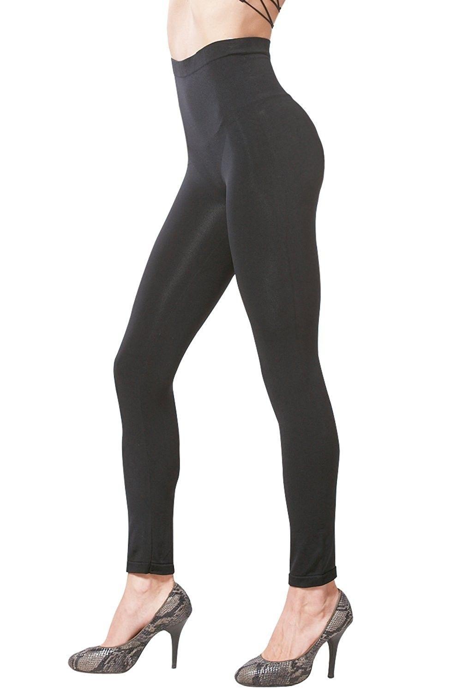 991971df71ee84 Women's Clothing, Leggings, Women's Seamless High Waist Slimming Compression  Full Length Leggings - Black