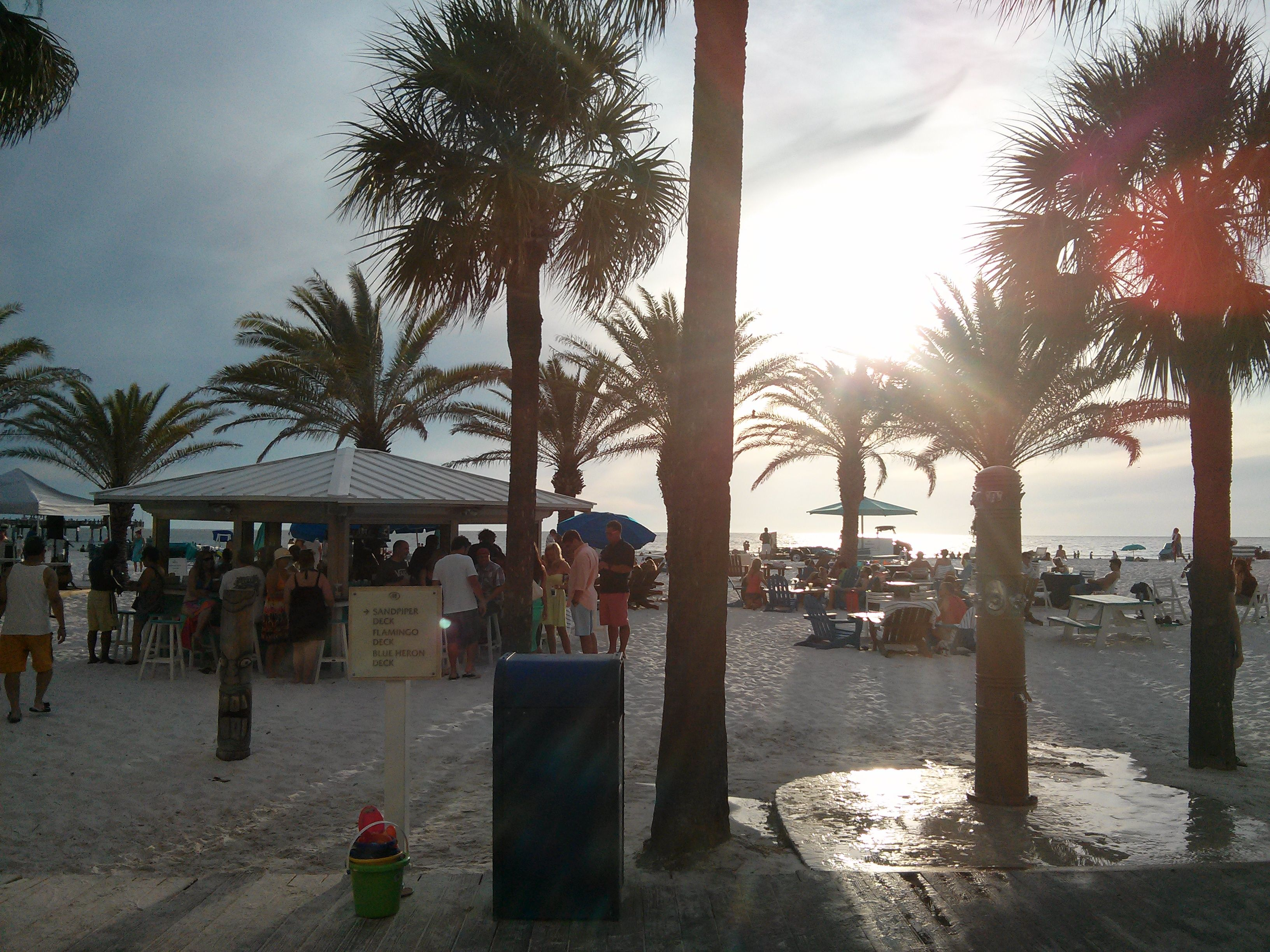 Ready for business at the hilton clearwater beach tiki bars pinterest clearwater beach clearwater beach resorts and beach resorts