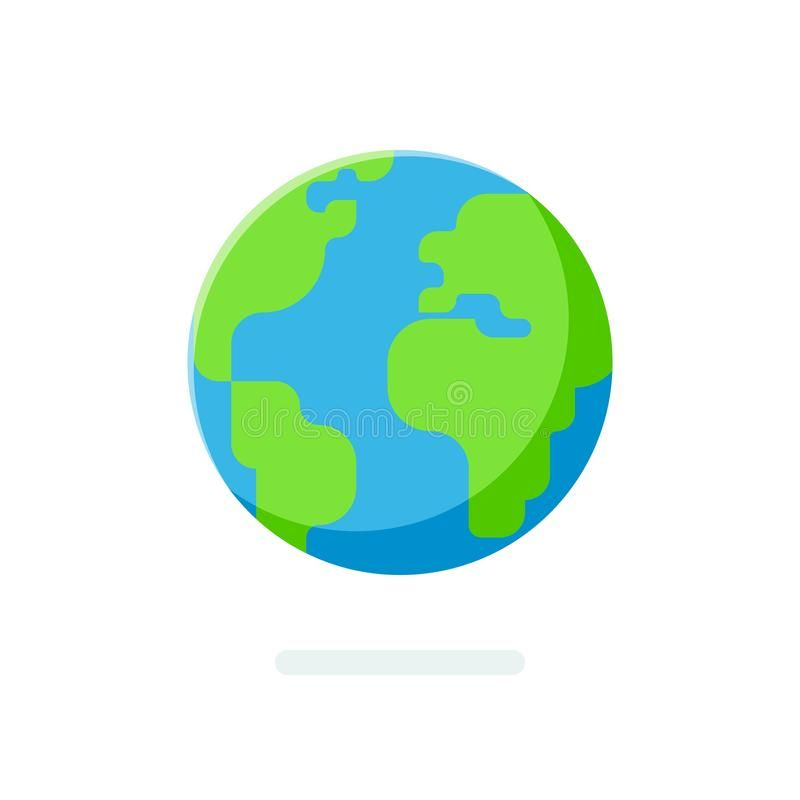 Flat Style Earth Globe Icon Spherical World Map Isolated On A White Affiliate Globe Icon Earth Flat Style Cartoon Globe Globe Icon Earth Globe