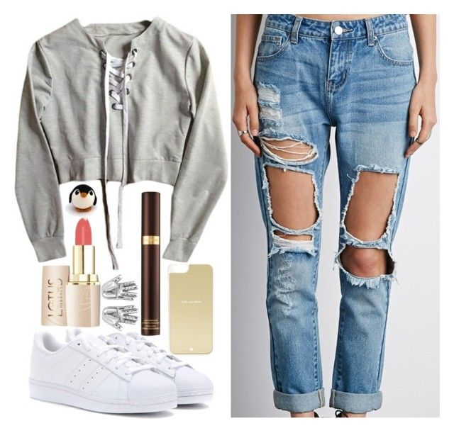 """Instaaaaaaa"" by cris05 on Polyvore featuring Forever 21, adidas, Kate Spade and Tom Ford"