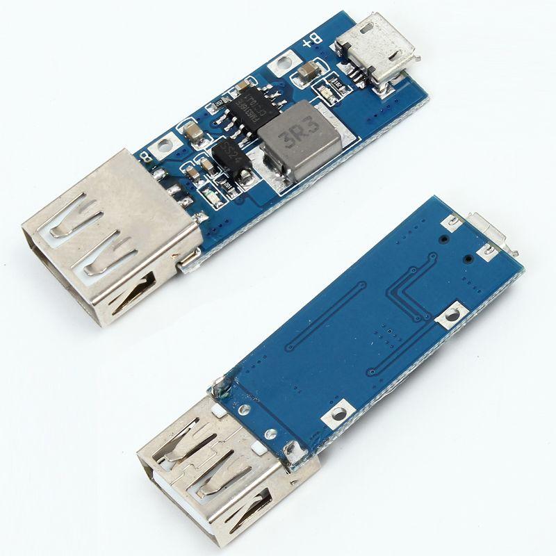 DC Boost conversion 3V 3.3V 3.7V 4.2V TO 5V 1A 2A USB Step Up mobile power Modul