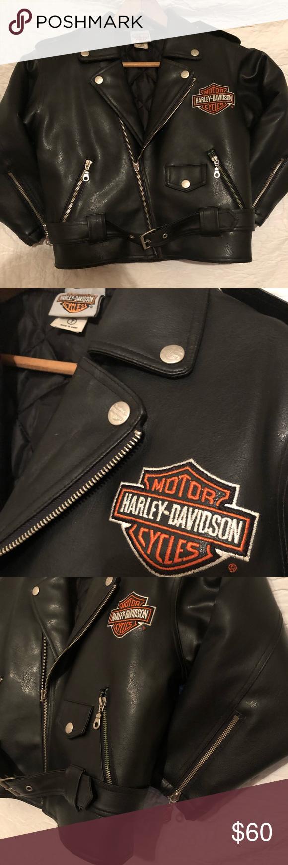 Harley Davidson Kids Biker Jacket Sz 7 60 Harley Davidson Kids Jackets Biker Jacket [ 1740 x 580 Pixel ]
