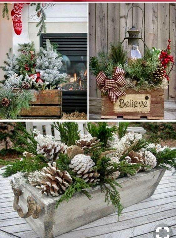 Mittelstücke aus Holz zu Weihnachten - Beauty Tips & Tricks #rustikaleweihnachten
