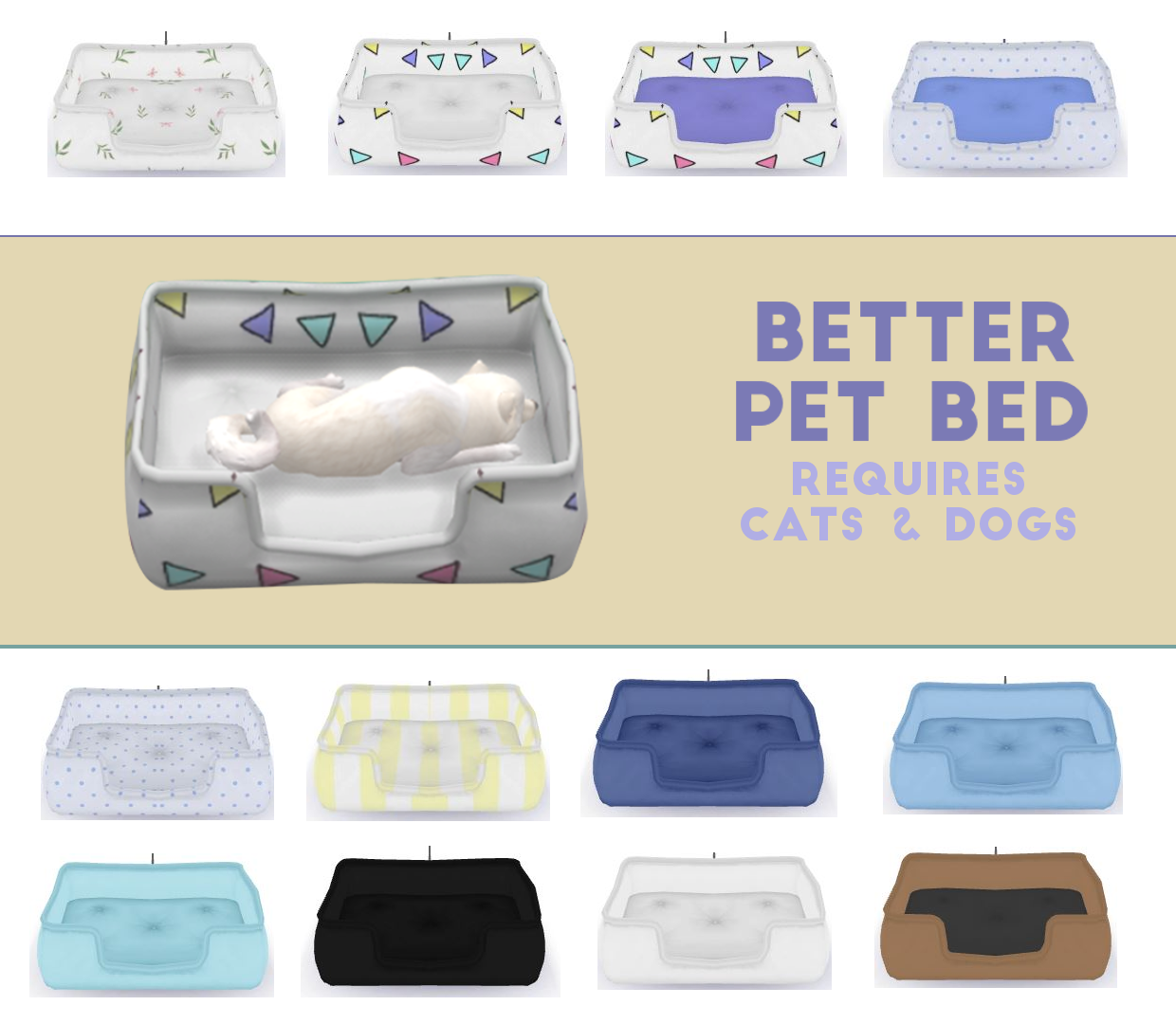 Better Pet Bed Sims 4 CC