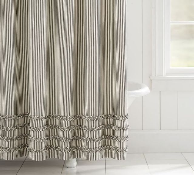 Daily Deals 1 23 17 Farmhouse Shower Ruffle Shower Curtains