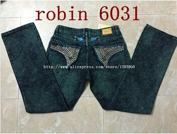 Highend Designer Men Denim Robin Jeans with Wings