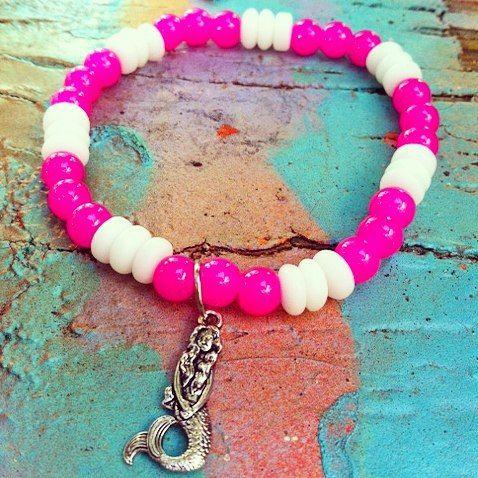 Mermaid bracelet #summer #mermaids #fun #bright #summer #2015 #love #etsyshop #etsyseller #etsy #sunsoakeddays #splash #surf #nautical #beachin