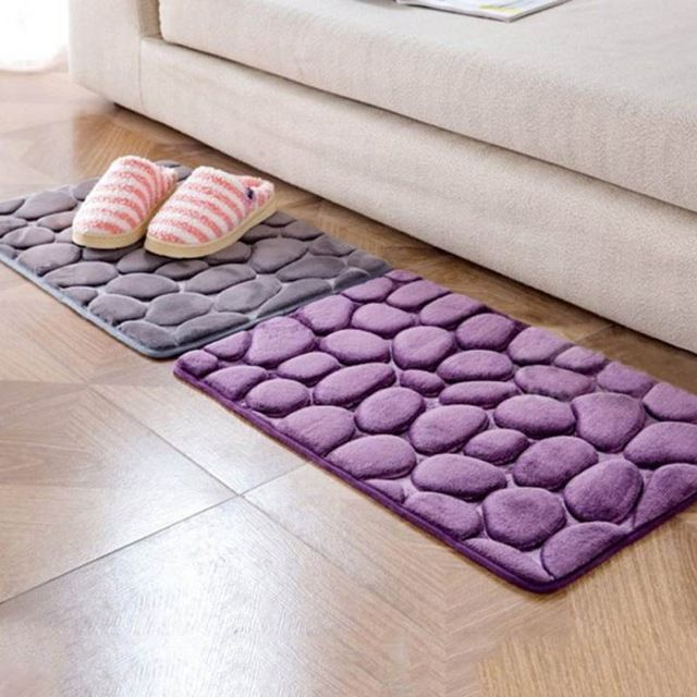 Bathroom Mats Rug Kit Toilet Bathroom Silicone Toilet Floor Shaggy