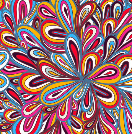 Bright and Colorful Vector Repeating Pattern | Elements of ...