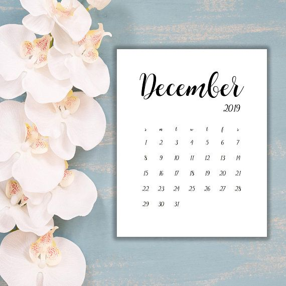 Date And Time Calendar August - December 2019 DECEMBER 2019| LIMITED TIME! Instant Download,Digital file