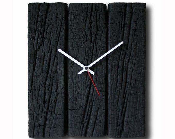 Verbrannte Holz Uhr, Home Dekor, Original-Uhr, handgefertigte Uhr - wanduhren wohnzimmer modern