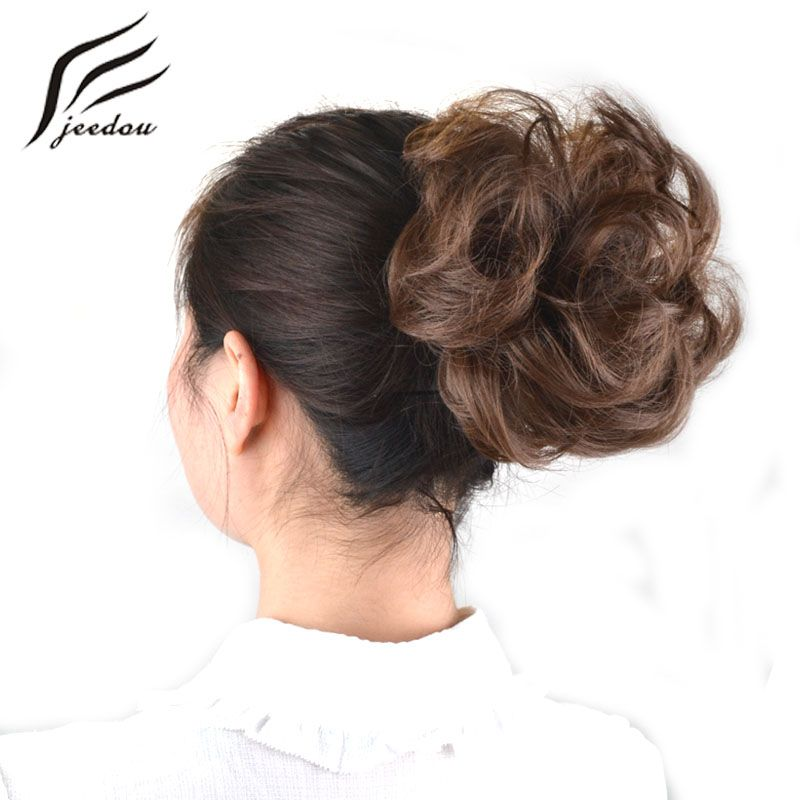 Jeedou Synthetic Hair Chignon Donut Black Brown 25colors 30g Hair