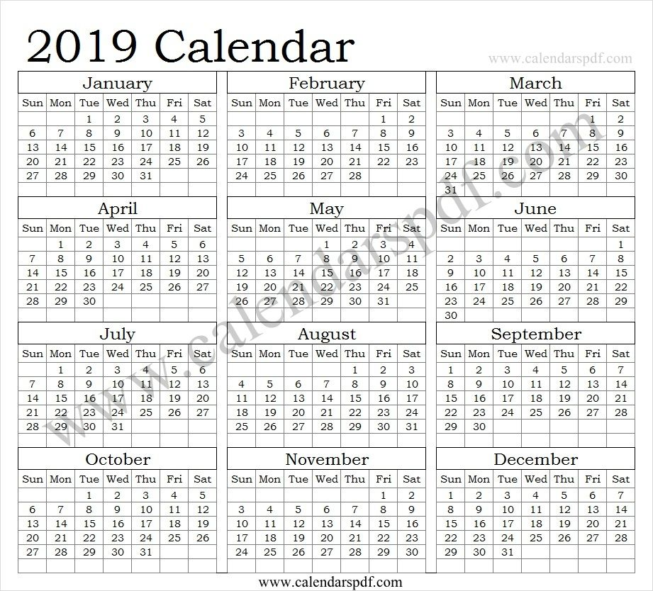Calendar 2019 Excel 2019 Calendar Pinterest Calendar, 2019