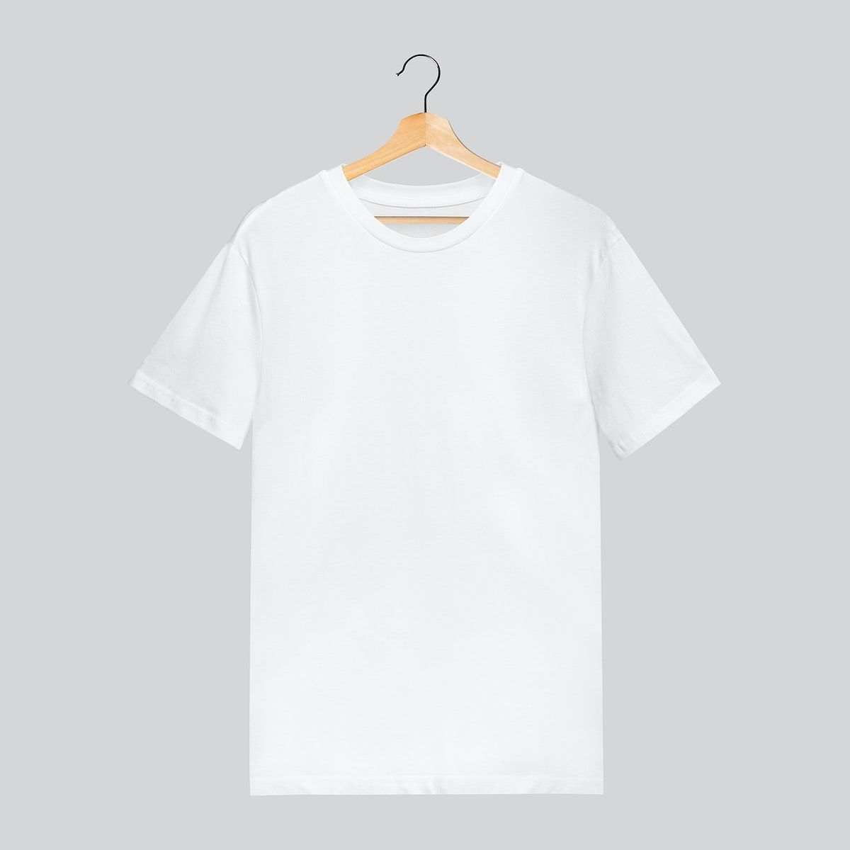 Download Download Premium Illustration Of White T Shirt Mockup On Gray Background Clothing Mockup Shirt Mockup Tshirt Mockup