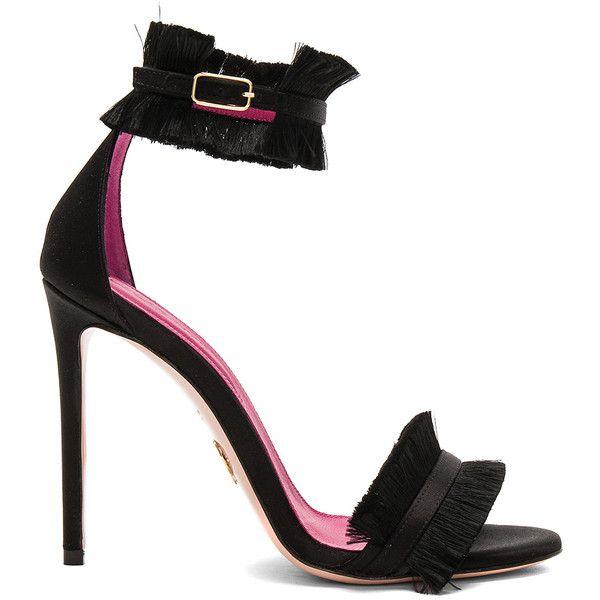 Oscar Tiye Caroline Heel (£525) ❤ liked on Polyvore featuring shoes, pumps, heels, high heel court shoes, leather sole shoes, heel pump, high heel shoes and high heeled footwear