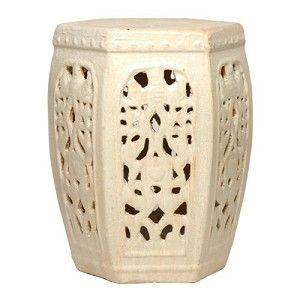 Attrayant Hexagon Ceramic Asian Garden Stool