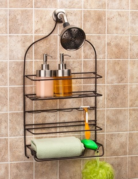 Keep Your Shower Storage Organized With A Tuscany® Extra Large Shower Caddy!  Featuring Two