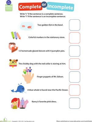 Printables Writing Complete Sentences Worksheet 1000 images about sentences on pinterest